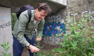 Chef and wild food expert Nurdin Topham forages for ingredients in east London.