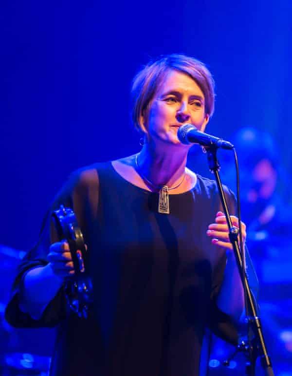 Karine Polwart performs at the Barbican, London, November 2019.