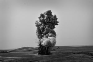 Controlled demolition of landmines and ordnance, in Bashiqa this year