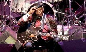 BB King performs with 'Lucille' in concert at the Majestic Theater in 2014 in San Antonio, Texas.
