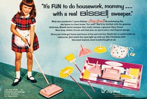 Bissell, 1965 carpet cleaner advert from the book Toys: 100 Years of All-American Toy Ads (£30) by Jim Heimann and Steven Heller is published by Taschen.