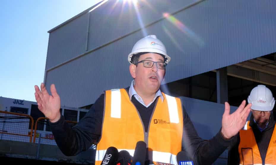 Victorian premier Daniel Andrews speaks to the media on Monday