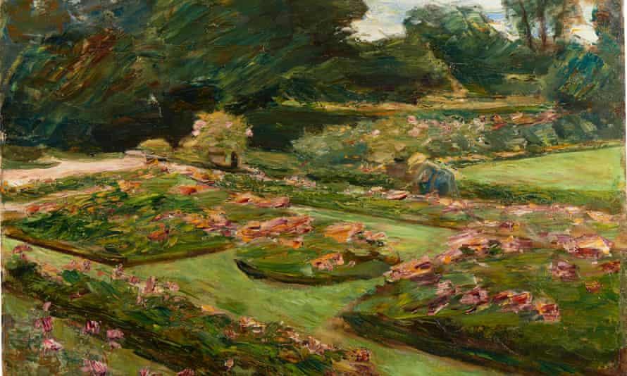 Max Liebermann's Die Blumenterrasse im Wannseegarten (1915)