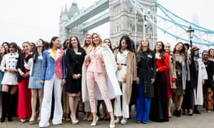 Game of thrones: Miss World 2019 contestants at Tower Bridge.