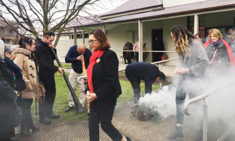 Smoking ceremony in Tumut before an inquest handed down its findings that there was bias in the treatment of Aboriginal woman Naomi Williams