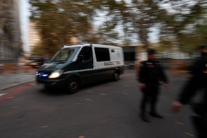 Madrid, Spain A van carrying members of the dismissed Catalan cabinet