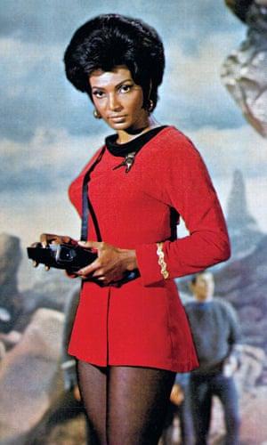 Nichelle Nichols as Uhura in 1966.