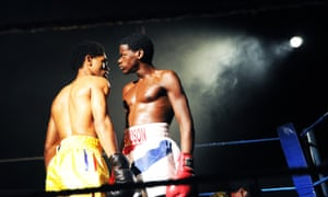 Anthony Welsh and Daniel Kaluuya in Sucker Punch by Roy Williams at the Royal Court in 2010.
