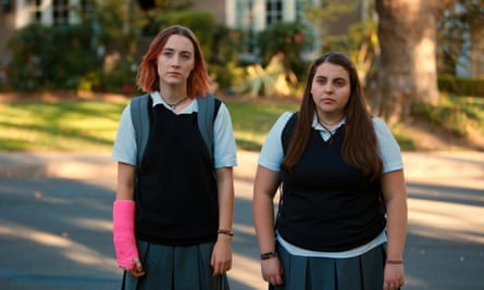 Saoirse Ronan with Feldstein in Lady Bird.