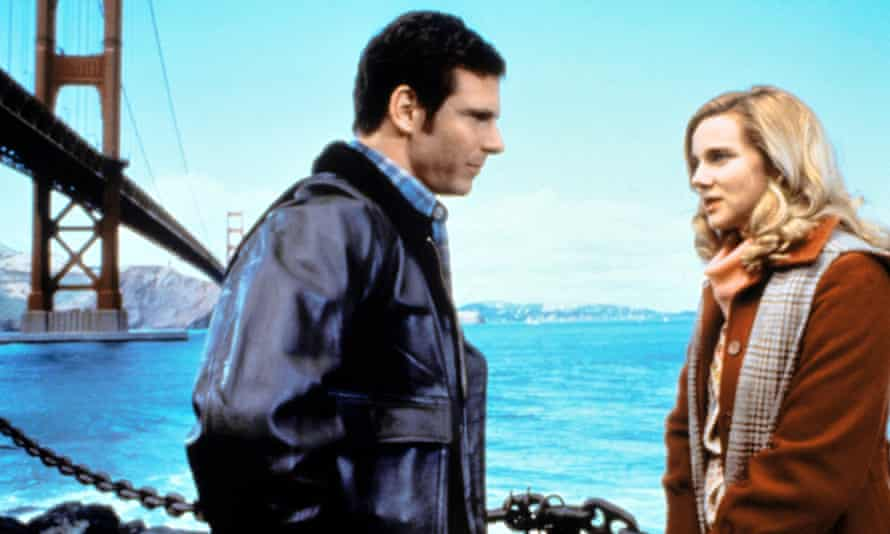 Marcus D'Amico and Laura Linney in Tales of the City (1993).