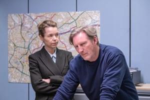 Anna Maxwell Martin and Adrian Dunbar in Line of Duty.