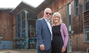Colin & Wendy Parry outside their peace centre in Warrington.