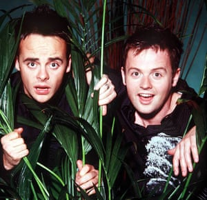 Ant and Dec hosting I'm A Celebrity… in 2005.