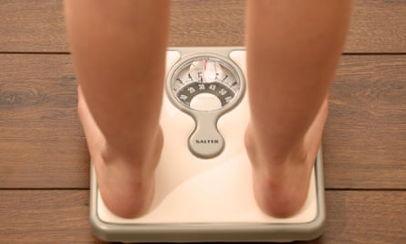 A person on scales