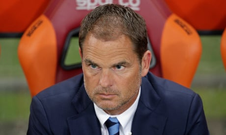 Crystal Palace set to appoint Frank de Boer as new manager