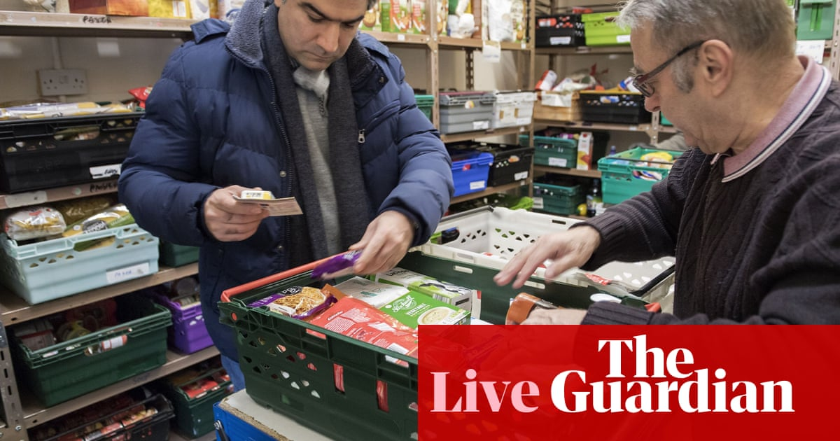 Food bank use has increased due to universal credit, government admits - as  it happened | Politics | The Guardian