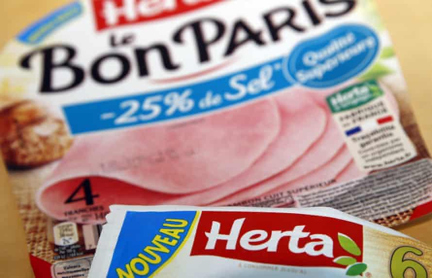 Packets of Herta branded ham