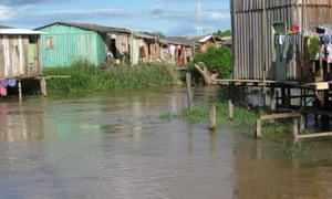 A poor neighbourhood in Altamira, Brazil that floods during high season will be left permanently under water by the Belo Monte dam.