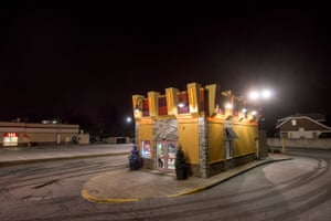 Drive-through, Nicky D Coney Island, formerly a White Castle, Grand River Avenue at Northrop Street, Detroit, 2017