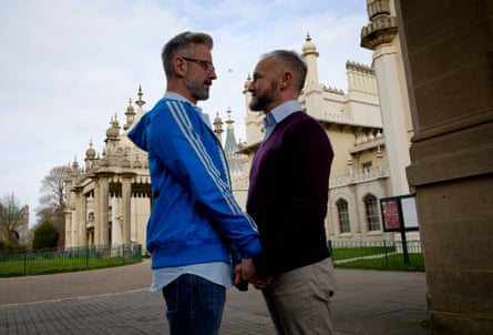 Andrew Wale and Neil Allard, who married at the Royal Pavilion in Brighton after winning a competition to become the first gay couple legally married in the city.