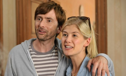 Comedy turn: Pike with David Tennant in What We Did on our Holidays.
