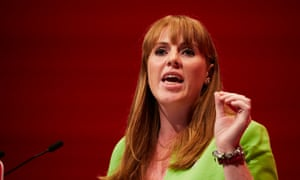 Angela Rayner addressing Labour party's annual conference