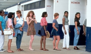 Women queueing for the loo