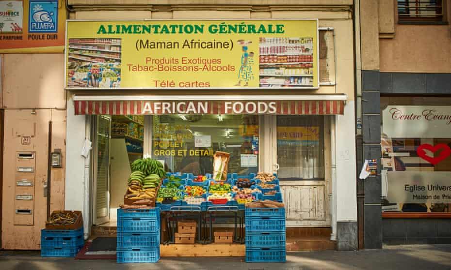 Little Kinshasha: an African grocer's in Matongé.