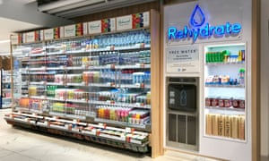 A water refill point at the Boots concept store in Covent Garden, London