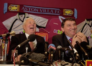 Aston Villa chairman Doug Ellis unveils Graham Taylor as the new manager.