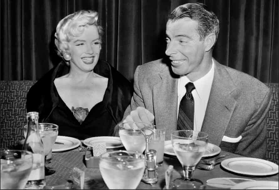 Joe DiMaggio's marriage to Marilyn Monroe came at a time when baseball players rivaled film stars for fame in the US