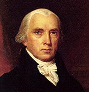 The fourth US president, James Madison.