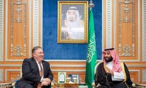 Mike Pompeo, US secretary of state, in Riyadh last week with Crown Prince Mohammed bin Salman.