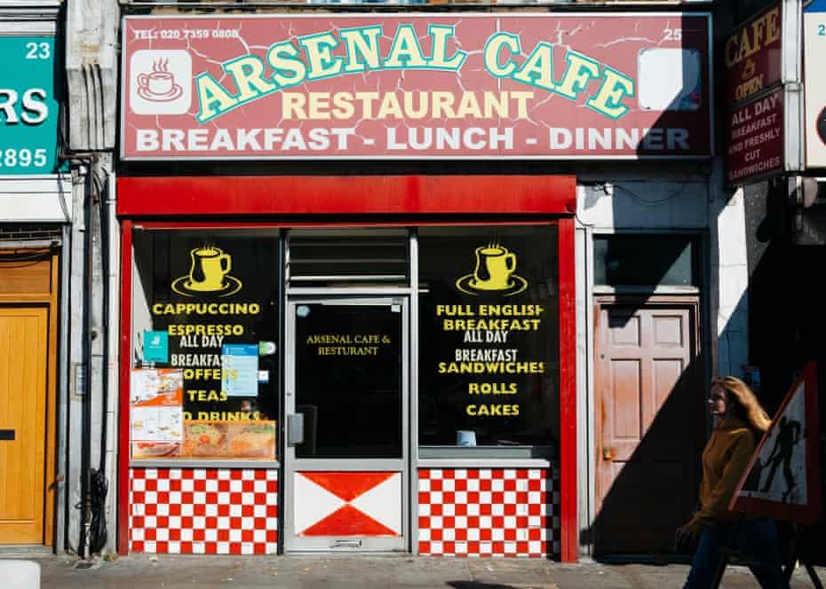 کافه آرسنال در مغازه Blackstock Road.