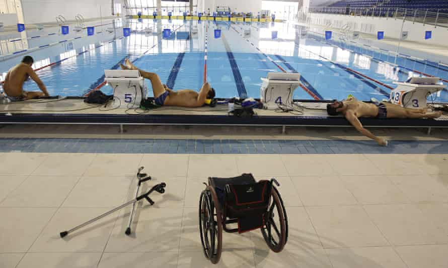 Athletes from Brazil train ahead the Paralympic Games.