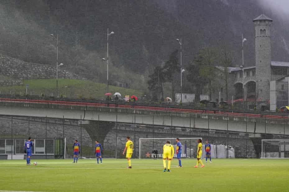 FC Andorra wait to kick off.