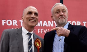 Chris Williamson with Jeremy Corbyn on the campaign trail in the run-up to the snap general election last year.