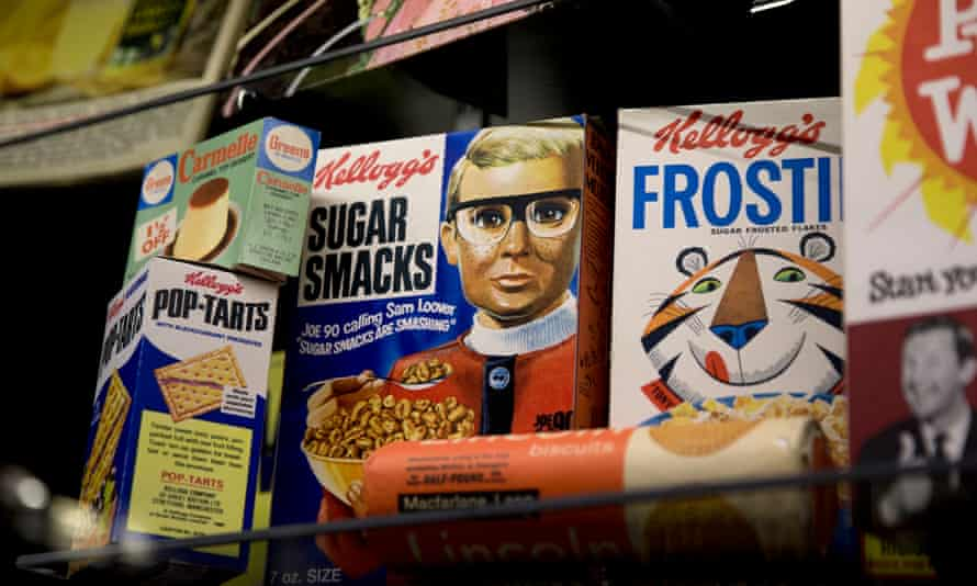 Cereal packets at the Museum of Brands.