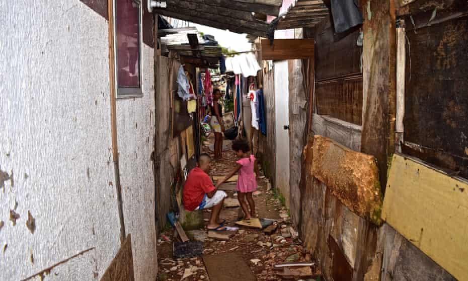 A slum in Boi Malhado favela, Zona Norte, Sao Paulo, Brazil