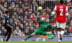 Kazim-Richards scores for Blackburn Rovers against his boyhood club, Arsenal, February 2013.