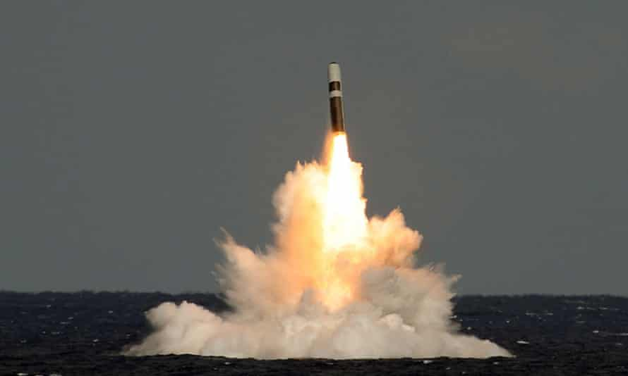 The date for replacing Britain's nuclear fleet keeps being put back … a missile firing from HMS Vigilant.