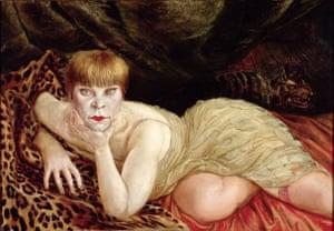 Reclining Woman on a Leopard Skin, 1927, Otto Dix.
