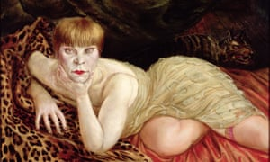 Reclining Woman on a Leopard Skin by Otto Dix.