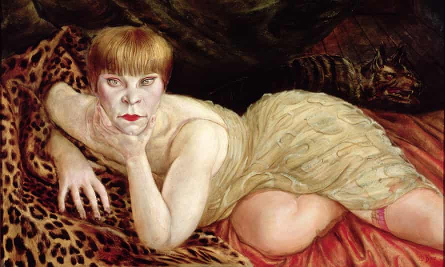 Reclining Woman on a Leopard Skin (1927) by Otto Dix.