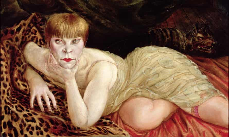 Otto Dix, Reclining Woman on a Leopard Skin, 1927, from Portraying a Nation: Germany 1919–1933, Tate Liverpool, 23 June to 15 October 2017.