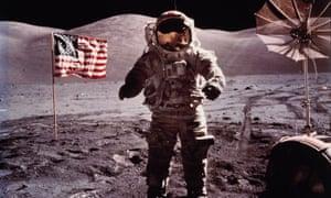 Moon walker: Eugene Cernan, commander of the Apollo 17 mission, left his camera on the lunar surface