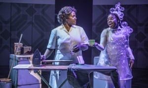 sharon d clarke and mesha bryan in caroline or change at chichester festival theatre