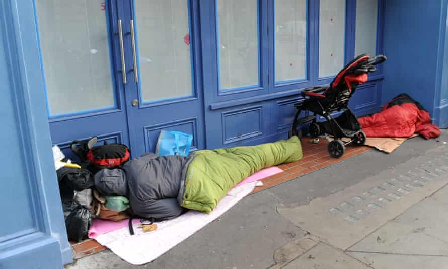 Rough sleepers in London