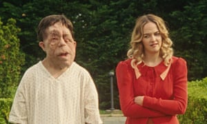 Adam Pearson and Jess Weixler in Chained for Life.