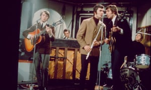 The Moody Blues in the mid-1960s. From left: Denny Laine, Mike Pinder, Ray Thomas, Clint Warwick and Graeme Edge.